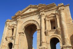 Jerash in Jordan. Is the grandeur of Imperial Rome being one of the largest and most well preserved sites of Roman architecture in the World outside Italy. To Stock Image