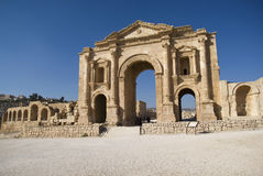 Jerash, Jordan. Triumphal Arch Stock Photo