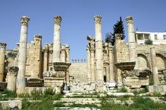 Jerash Jordanien Arkivbilder