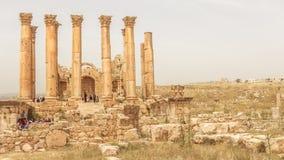 JERASH, JORDÂNIA - 25 DE ABRIL DE 2016: Local histórico Jerash Fotos de Stock