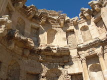 Jerash kolonner forntida Roman City Sand Arkivfoton