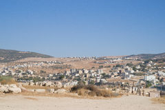 Jerash moderne et antique, Jordanie Photos stock