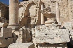 Jerash - oude straat in roman c Stock Afbeelding
