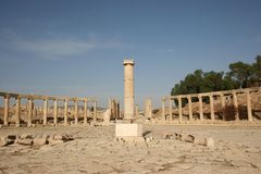 Jerash Oval Plaza Royalty Free Stock Photography