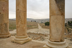 Jerash Overview Royalty Free Stock Photos