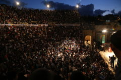 Jerash på nätterna Royaltyfria Bilder
