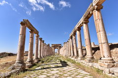 Jerash Roman City. Jerash is considered one of the largest and most well-preserved sites of Roman architecture in the world outside Italy Stock Photo