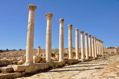 Jerash Ruinen Stockfoto