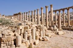 Jerash Ruinen Lizenzfreie Stockfotos