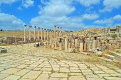 Jerash Ruins. Ancient ruins of Jerash, Jordan stock image