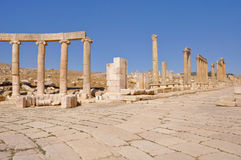 Jerash ruins at Jordan Stock Photos