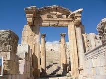 Jerash tempelingång Fotografering för Bildbyråer