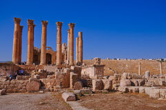 The Jerash Temple of Artemis Royalty Free Stock Images