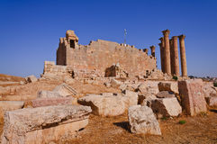 The Jerash Temple of Artemis. This roman temple are still one of the most remarkable monuments left of the ancient city of Jerash Stock Image