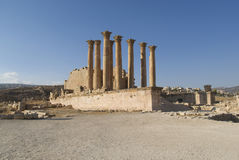 The Jerash Temple of Artemis of Jordan Royalty Free Stock Photo