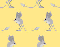 Jerboa pattern. Steppe animal background. Wildlife Texture Stock Photo