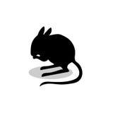 Jerboa rodent mammal black silhouette animal. Vector Illustrator Stock Images