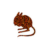 Jerboa rodent mammal color silhouette animal. Vector Illustrator Royalty Free Stock Images