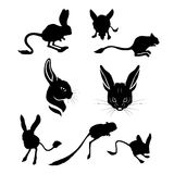 Jerboa set vector Royalty Free Stock Images
