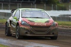 Jere Kalliokoski 巴塞罗那FIA世界Rallycross冠军 免版税图库摄影