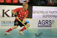 Jere Liljenback - floorball Royalty Free Stock Photos