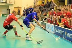 Jere Liljenback - floorball defender Royalty Free Stock Images
