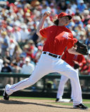 Jered Weaver Los Angeles Angels van Anaheim. Royalty-vrije Stock Foto