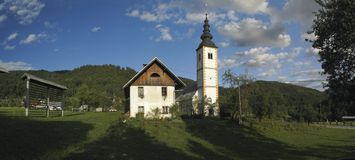 Jereka nelle alpi di Julian in Slovenia Immagine Stock Libera da Diritti