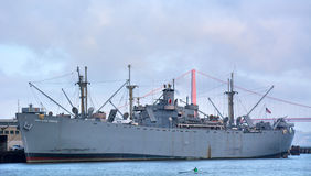 Jeremiah O'Brien warship mooring at Pier 45 in Fisherman Wharf S Stock Images