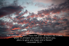 Jeremiah 29:11 Plans of hope Royalty Free Stock Images