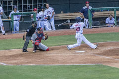 Jeremias Pineda Swings the Bat Stock Photos
