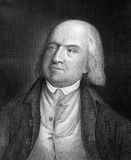 Jeremy Bentham. (1748-1832) on engraving from 1859. English philosopher, jurist and social reformer. Engraved by unknown artist and published in Meyers Royalty Free Stock Photography