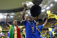 Jeremy Bokila (CR) holding the Romanian Cup Royalty Free Stock Image