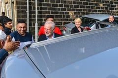 Jeremy Corbyn-Besuchsmoschee stockbilder