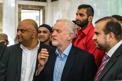 Jeremy Corbyn-Besuchsmoschee lizenzfreies stockbild