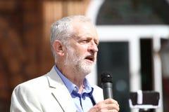 Jeremy Corbyn-bezoeken Redhouse, Merthyr Tydfil, Zuid-Wales, het UK stock foto