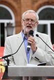 Jeremy Corbyn-bezoeken Redhouse, Merthyr Tydfil, Zuid-Wales, het UK stock foto's