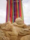 Jeremy Corbyn Sand Sculpture Photographie stock libre de droits