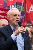 Jeremy Corbyn visita el campo común de Whitchurch, Cardiff, el Sur de Gales, Reino Unido imágenes de archivo libres de regalías