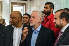 Jeremy Corbyn visiting Mosque Stock Photo