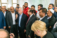 Jeremy Corbyn visiting Mosque Royalty Free Stock Photography