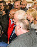 Jeremy Corbyn visiting Mosque Royalty Free Stock Photo
