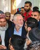 Jeremy Corbyn visiting Mosque Royalty Free Stock Images