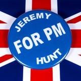 Jeremy Hunt para el primer ministro imagen de archivo libre de regalías