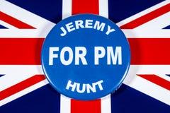 Jeremy Hunt para el primer ministro foto de archivo libre de regalías