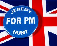 Jeremy Hunt para el primer ministro imagenes de archivo