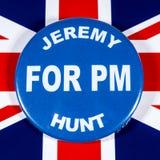 Jeremy Hunt para el primer ministro imágenes de archivo libres de regalías
