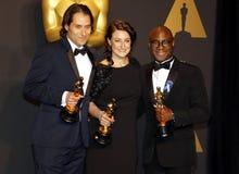 Jeremy Kleiner, Adele Romanski och Barry Jenkins arkivfoto