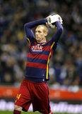 Jeremy Mathieu of FC Barcelona royalty free stock photos