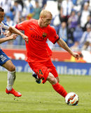 Jeremy Mathieu of FC Barcelona Royalty Free Stock Photo